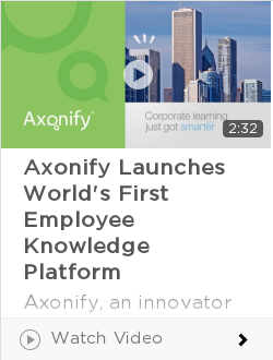 Axonify Launches World's First Employee Knowledge Platform
