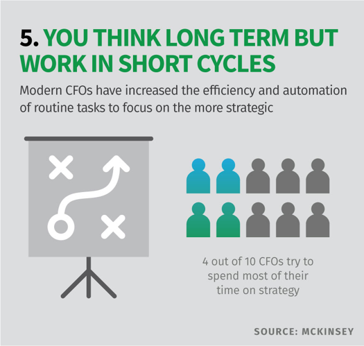 5. You think long term but work in short cycles