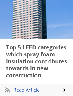 Top 5 LEED categories which spray foam insulation contributes towards in new construction
