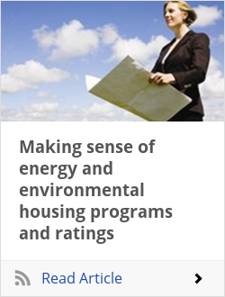 Making sense of energy and environmental housing programs and ratings