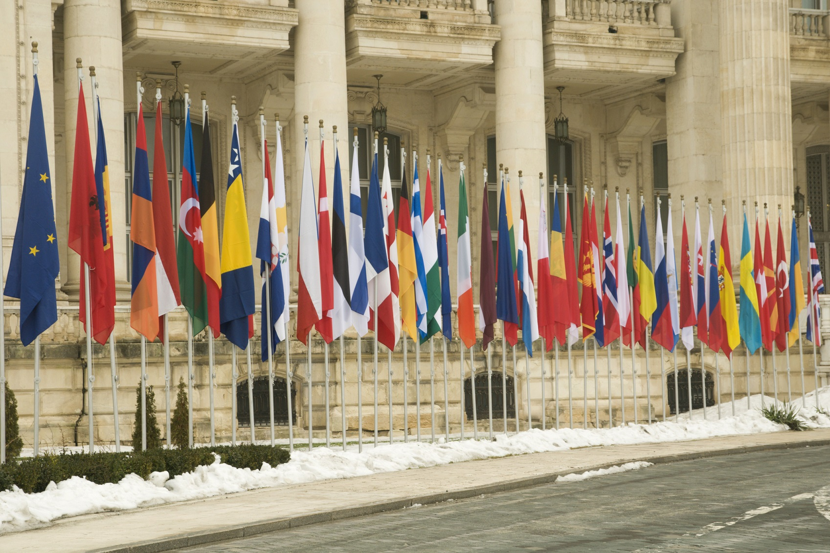 Flags of the eurozone