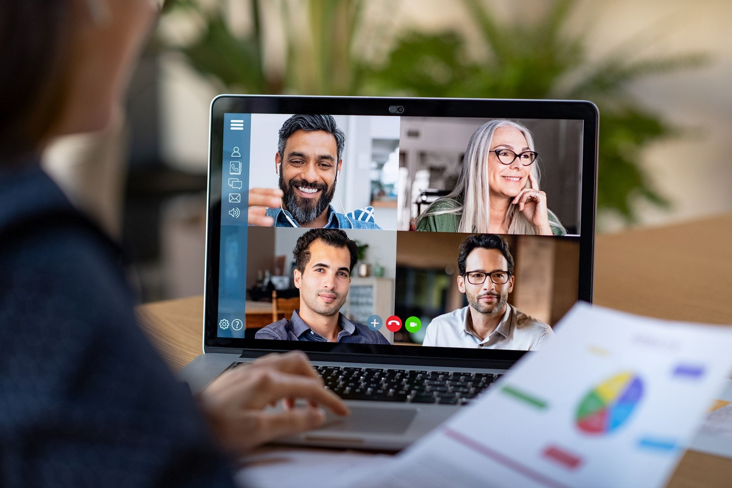 remote working and video conferencing