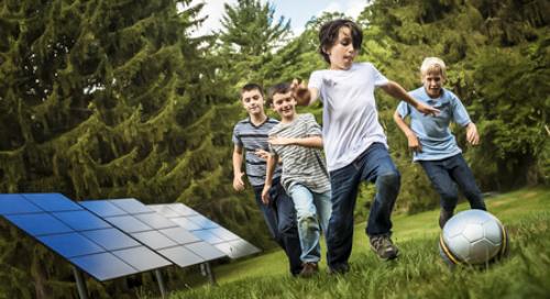 solar panels at school to reach net zero through renewable energy