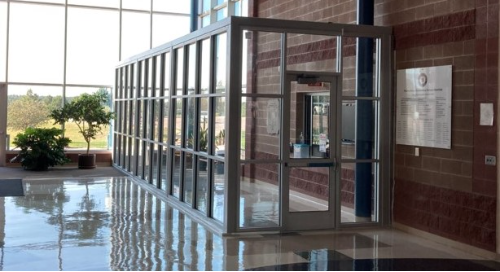 Security vestibule at college