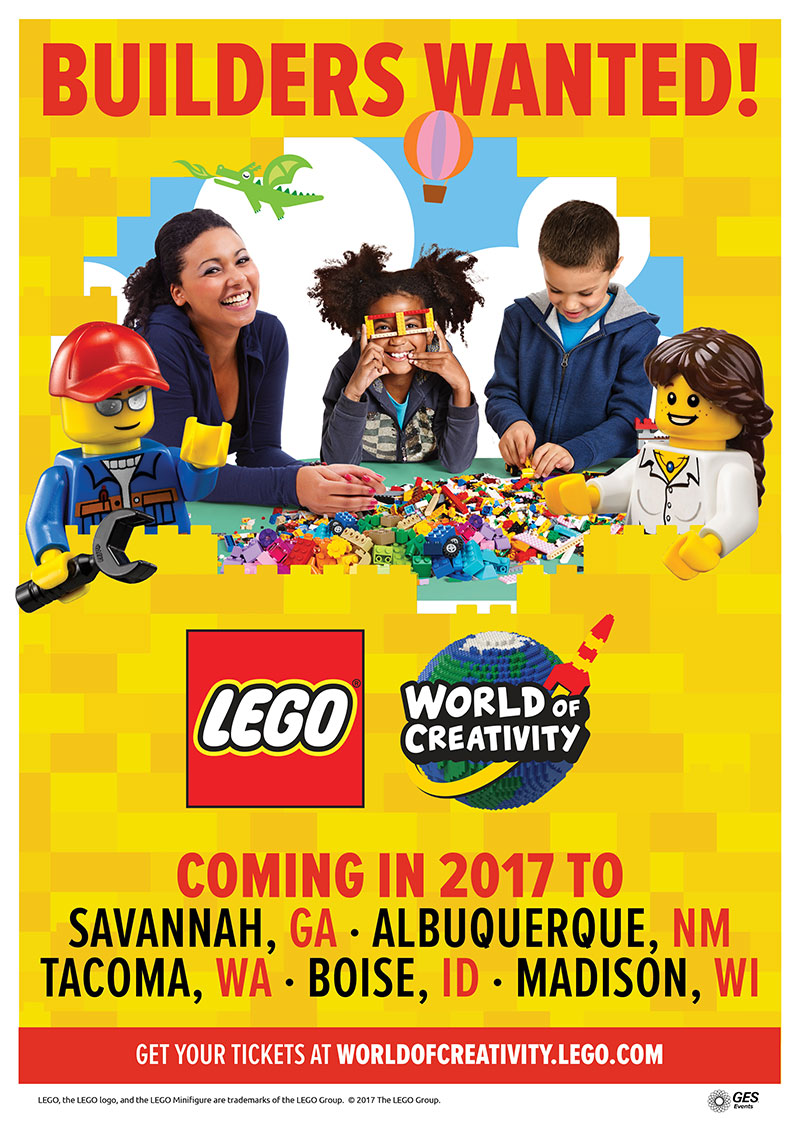 LEGO World of Creativity interactive experience tour