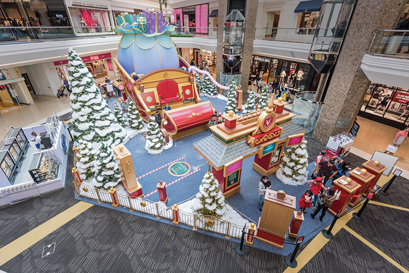 Santa's Flight Holiday Brand Activation in Mall