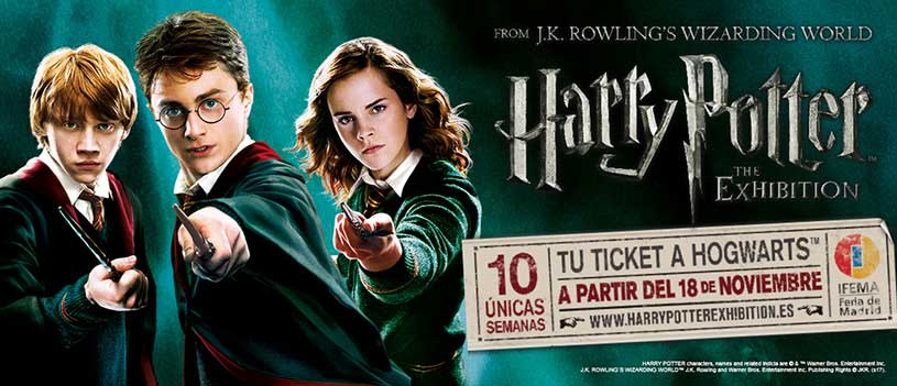 Harry Potter the exhibition is coming to Madrid