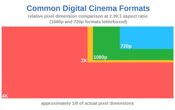 Common Digital Cinema Formats