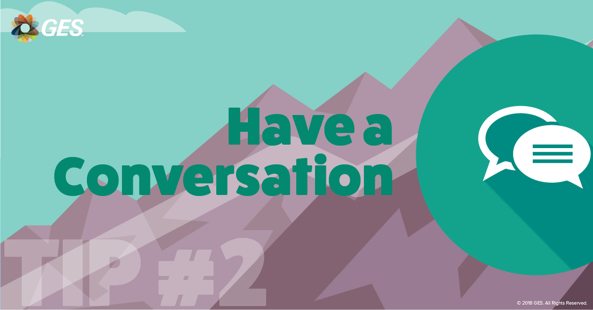 Have a Conversation | Sponsorship Tip #2