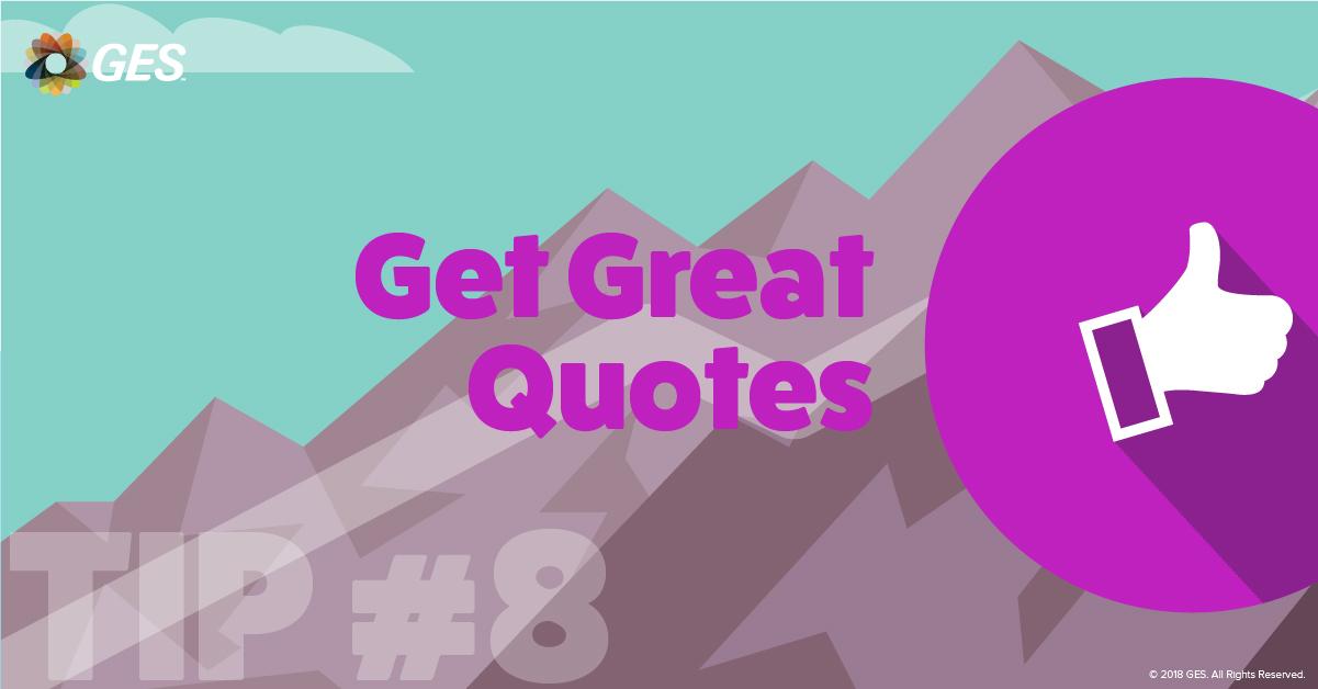 Get Great Quotes | Sponsorship Tip #8