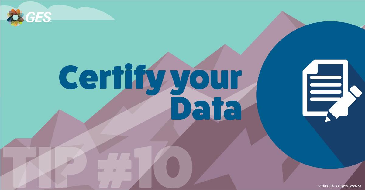 Certify your Data | Sponsorship Tip #10