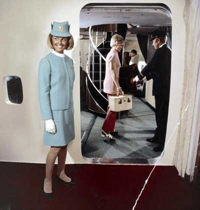 Boeing were one of the first to introduce the air stewardess