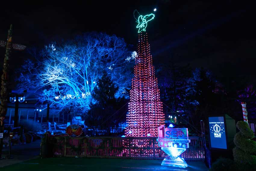 Elmwood Park Zoo -- GES Events designed and created this immersive holiday experience