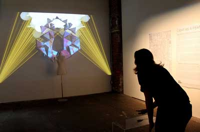 A wall projector and screen