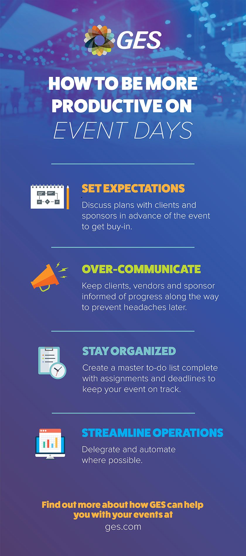4 Quick Tips to Be More Productive on Event Days