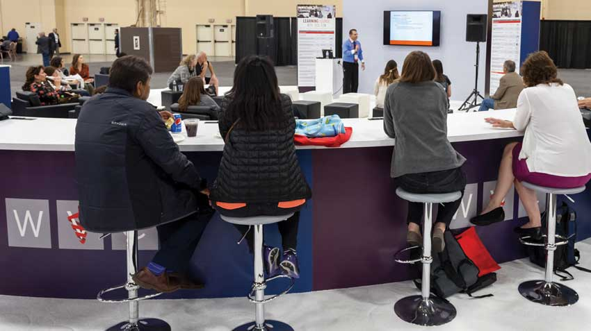 """Learning Lounge featured """"bite-sized"""" continuing education sessions to drive traffic to the exhibit floor."""