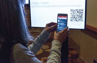 App integration with digital signage.