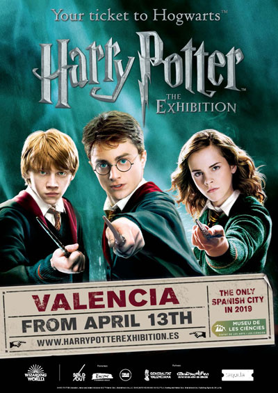 TICKETS TO HARRY POTTER™: THE EXHIBITION IN VALENCIA NOW ON SALE!