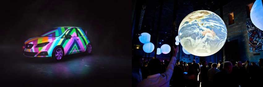 Projection Mapping on car and on screen