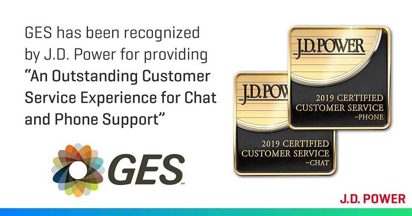 "GES National Servicenter recognized for providing an ""Outstanding Customer Service Experience"""