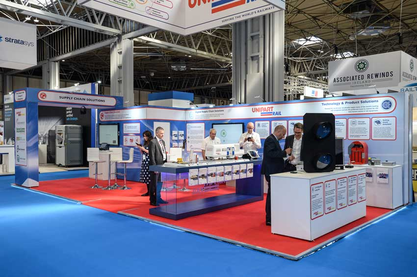 Unipart at Railtex - Display in your stand