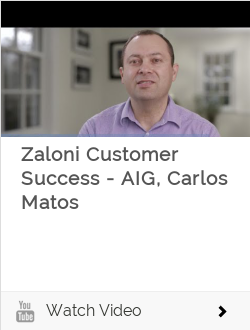 Zaloni Customer Success - AIG, Carlos Matos