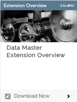 Data Master Extension Overview