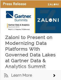 Zaloni to Present on Modernizing Data Platforms With Governed Data Lakes  at Gartner Data & Analytics Summit