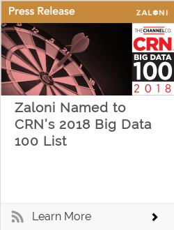 Zaloni Named to CRN's 2018 Big Data 100 List