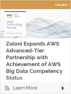 Zaloni Expands AWS Advanced-Tier Partnership with Achievement of AWS Big Data Competency Status