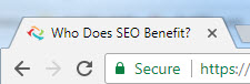 Who Does SEO Benefit title tag tab