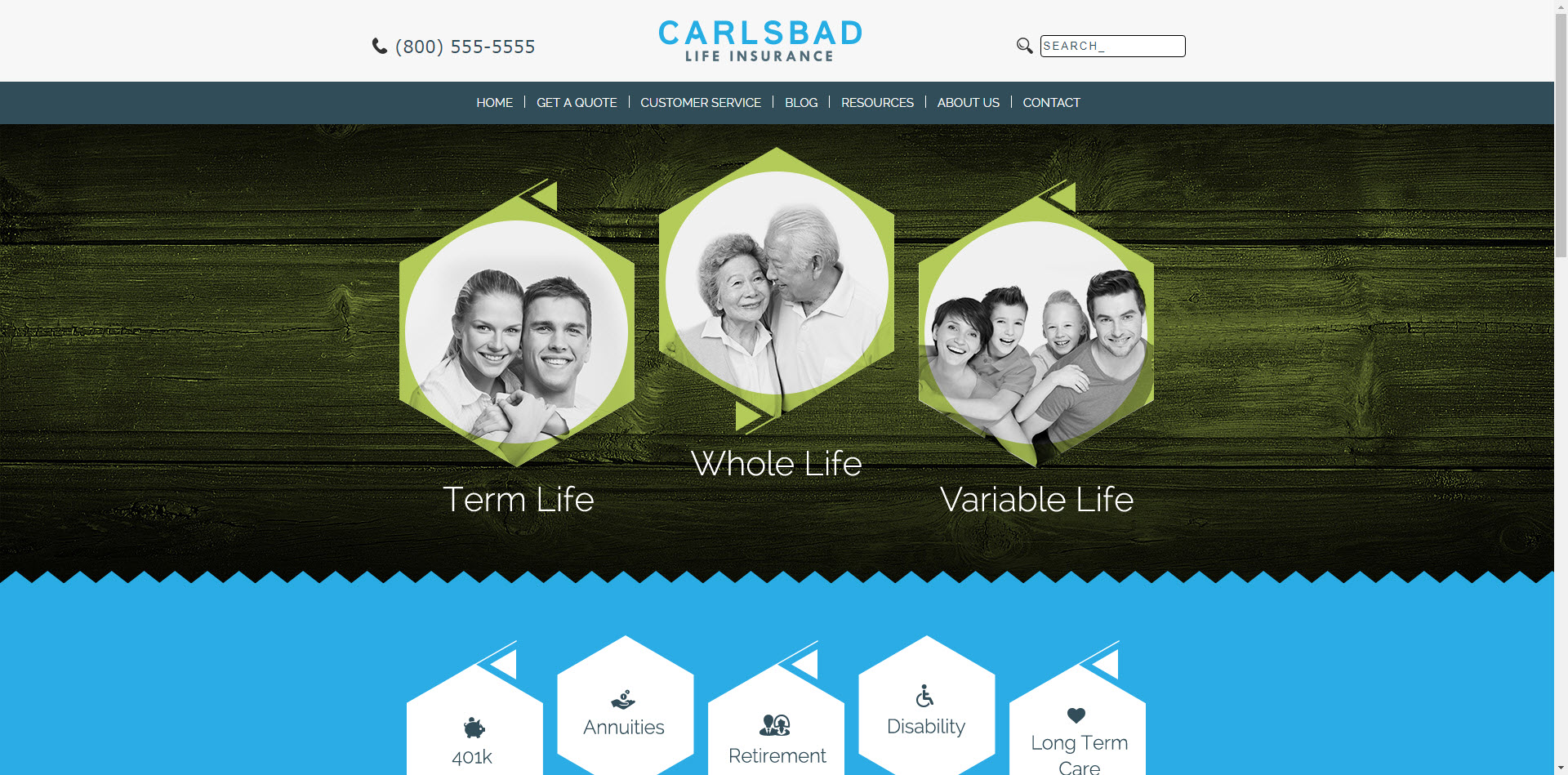 Carlsbad ITC Insurance Website Template