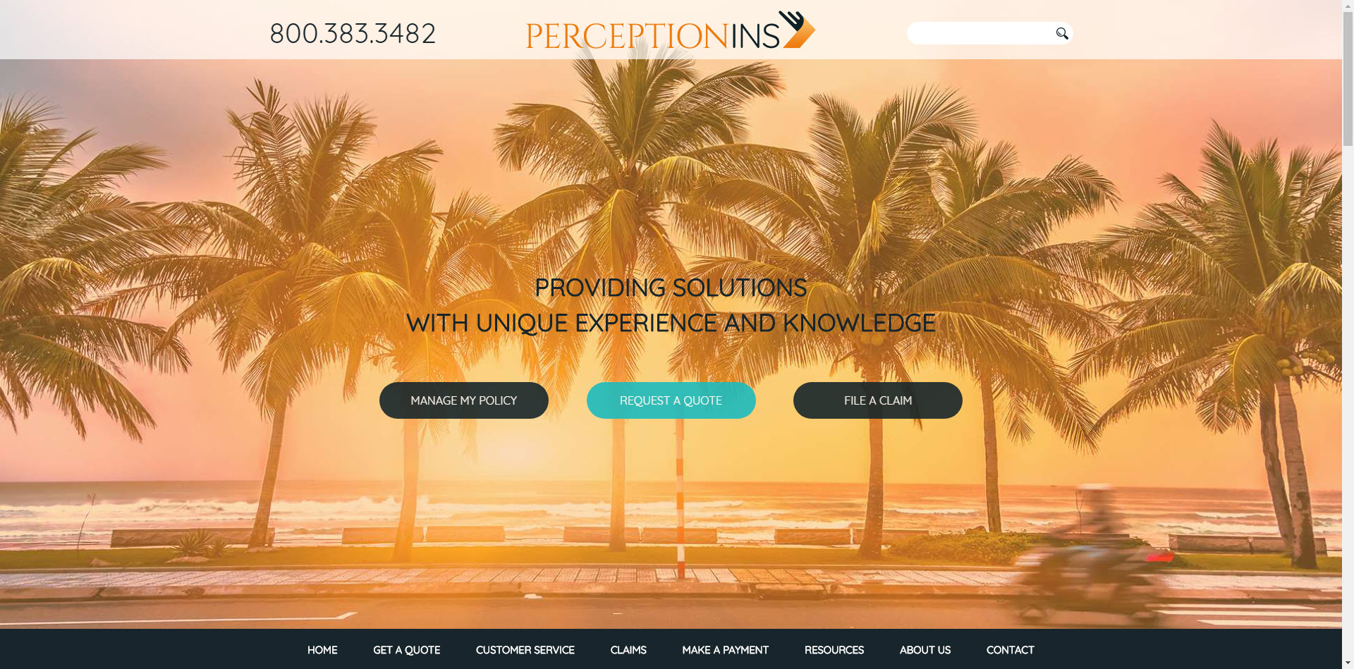 perception insurance website builder template