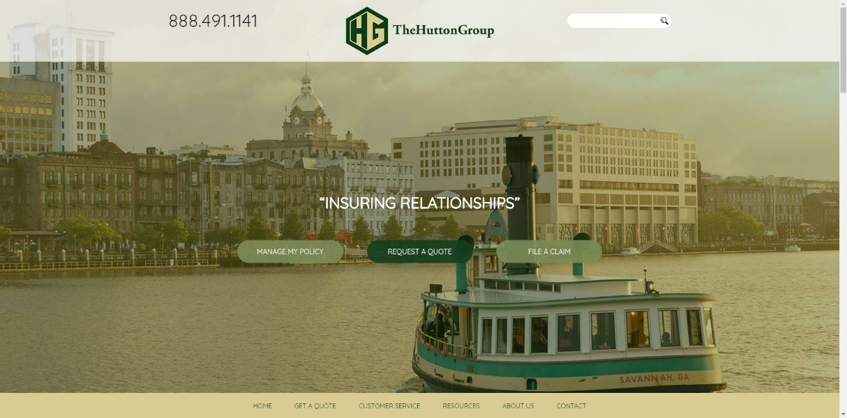 Hutton Group Website Screenshot