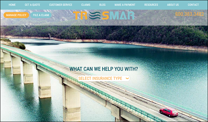 Tres mar website template