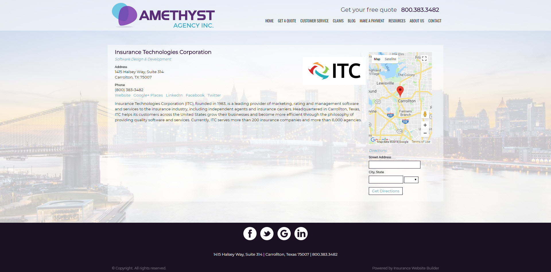 amethyst partner page screenshot ITC