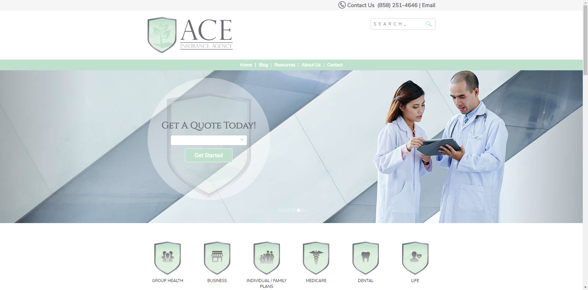 Ace Insurance agency screenshot