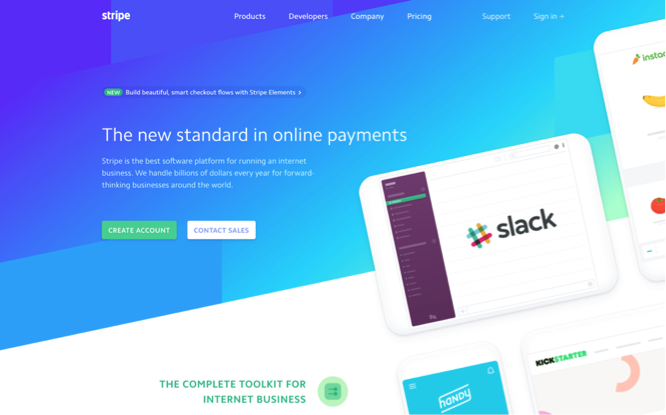 stripe website screenshot