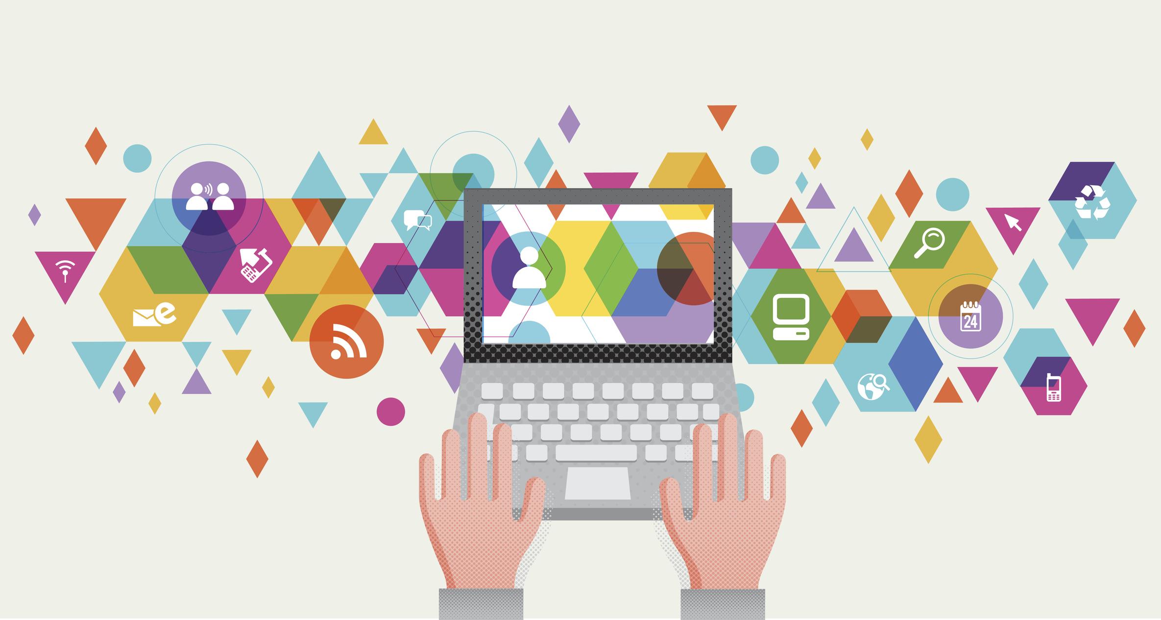 abstract illustration of computer social media