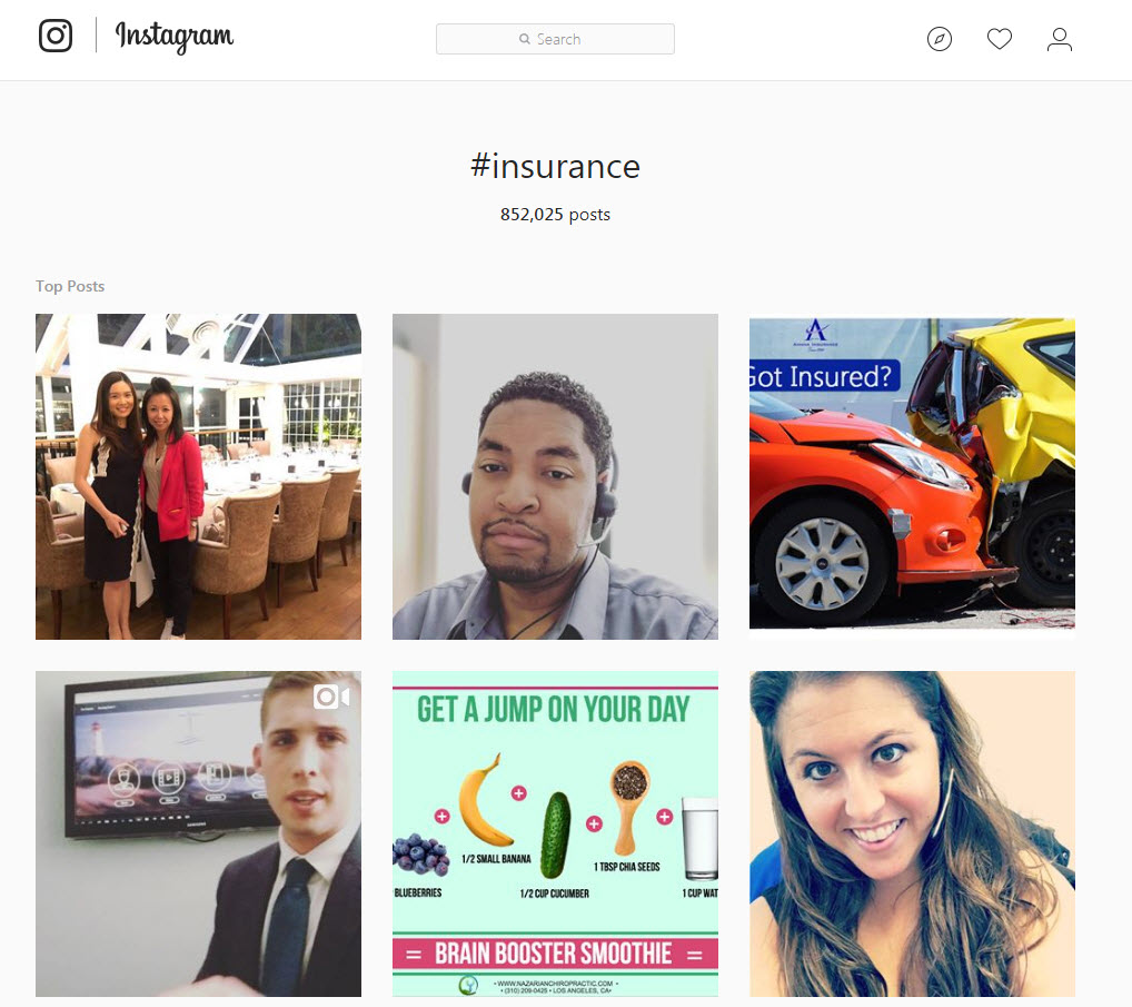 instagram hashtags insurance