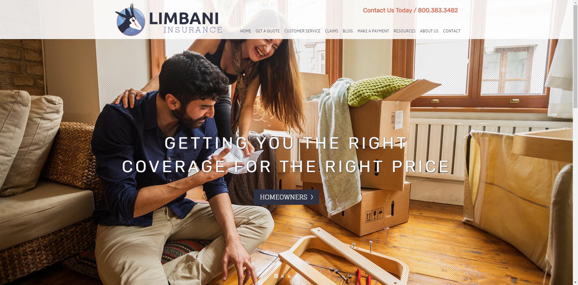 limbani insurance website