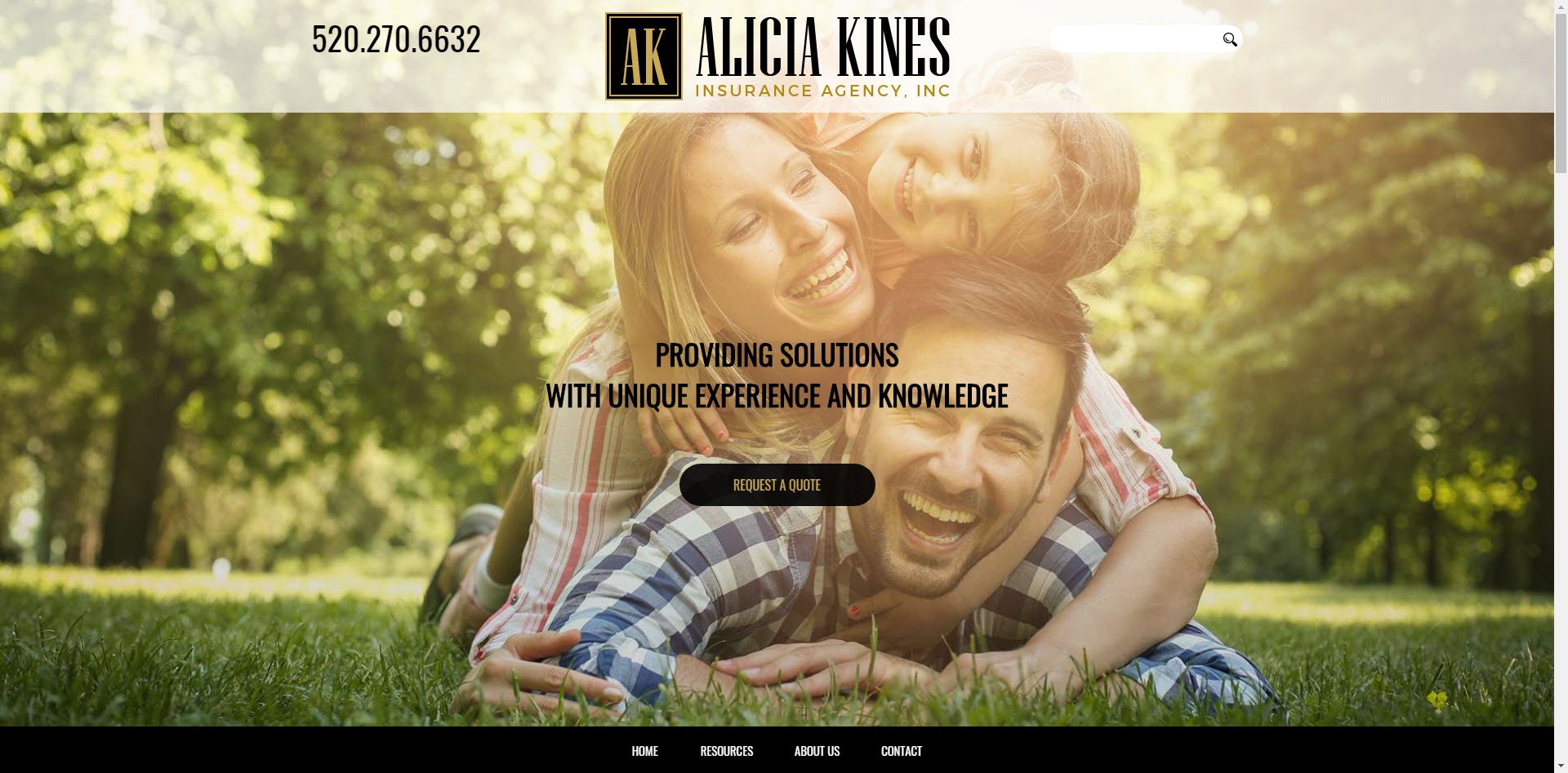 alicia kines insurance agency website