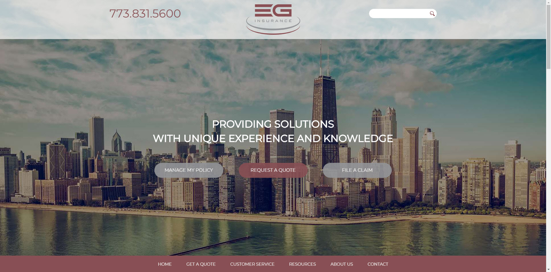 eg insurance website