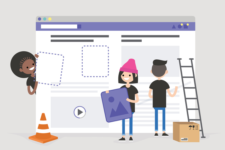 people building website illustration
