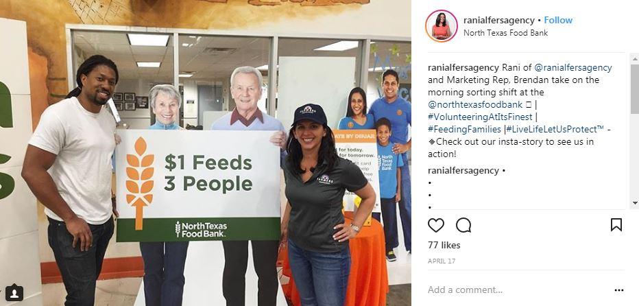 community Instagram post