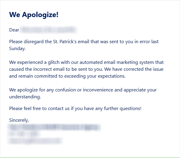 apology email