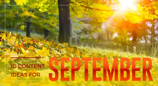 10 topic ideas for september
