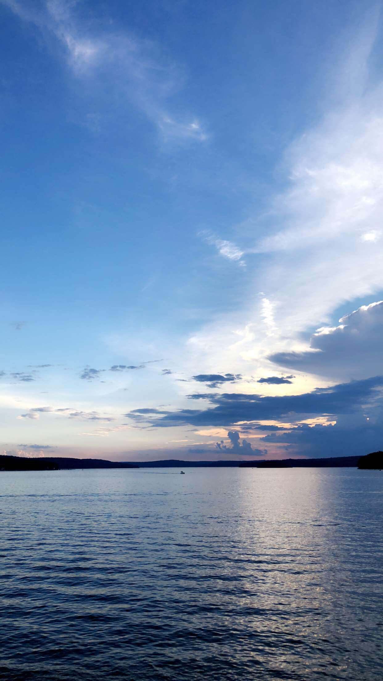 lake paupack sunset