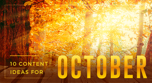 10 ideas for october