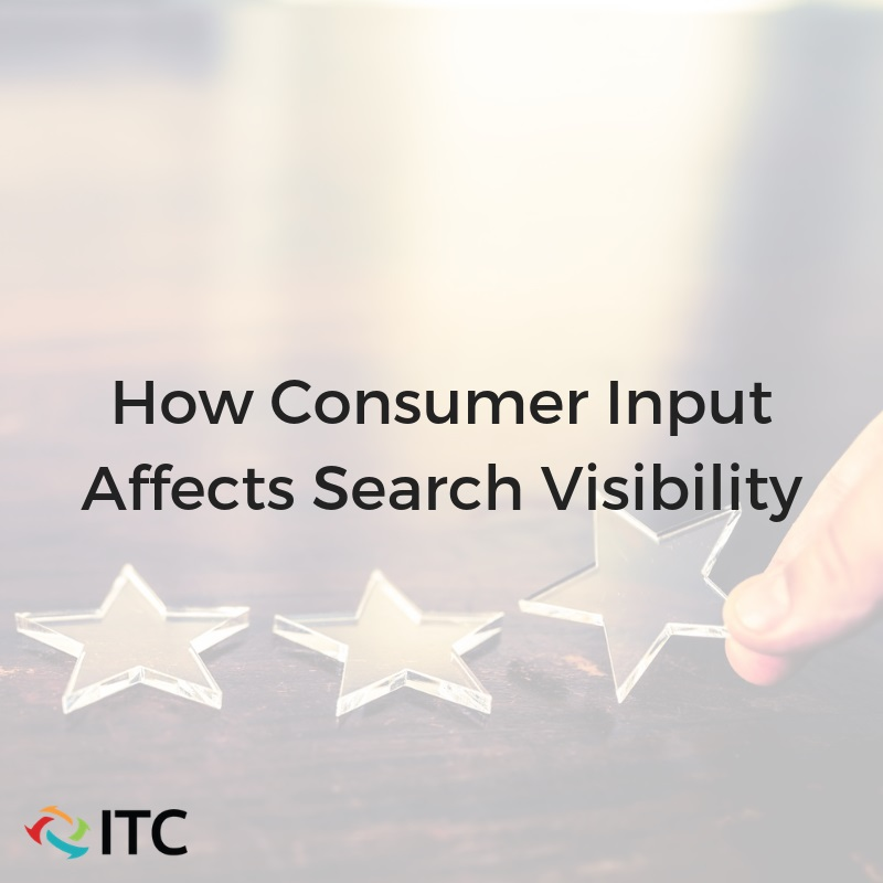 How consumers input affects search visibility